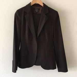 Zara dark brown pantsuit